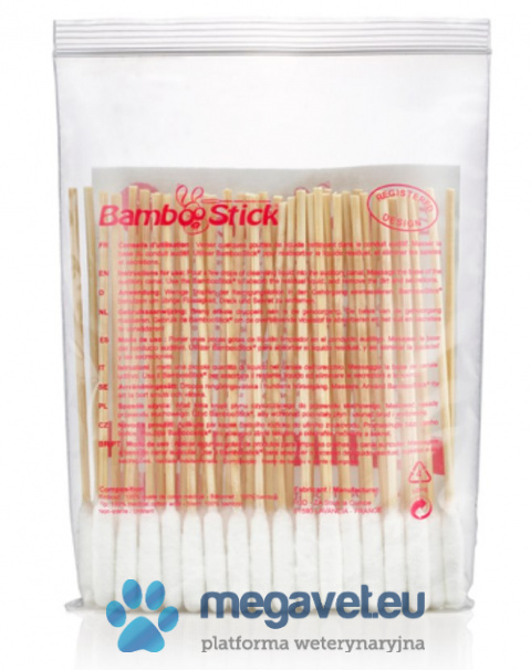 Sticks to the ears of BAMBOOSTICK ® (PRA)