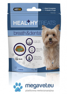VetiQ Delicacies for dogs breathing and teeth 70g [RVT]